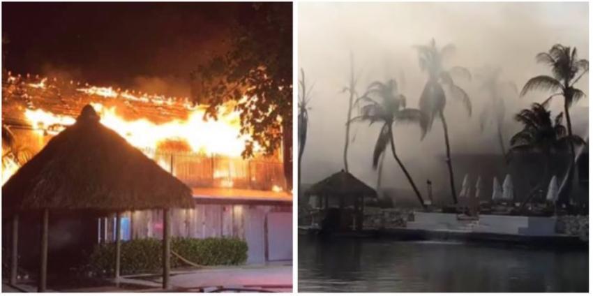 Voraz incendio en lujoso resort de los Cayos de la Florida, se reportan graves daños