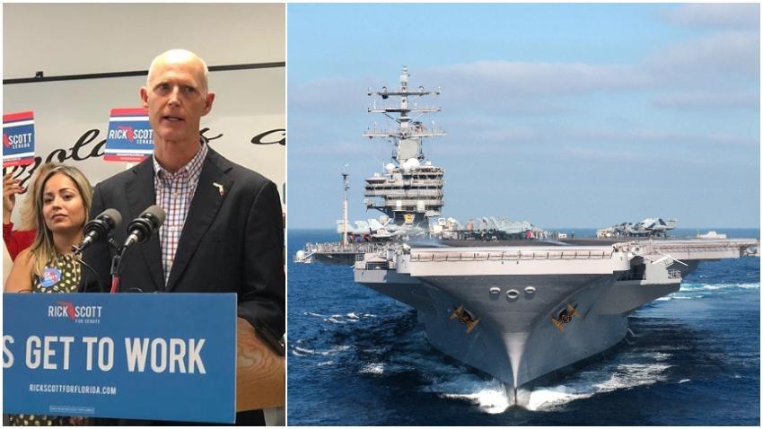 "Rick Scott propone un ""bloqueo naval"" a Cuba para cortar el suministro de petróleo de Venezuela"
