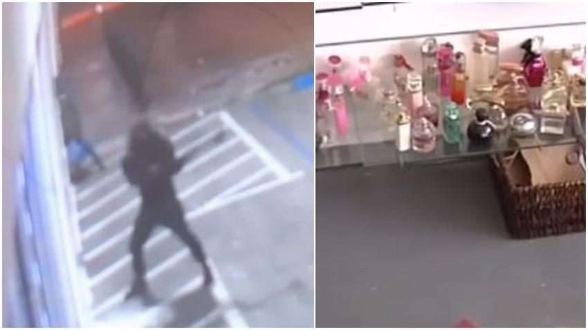 Roban en perfumería de Miami, la policía busca a los ladrones que acometieron el acto en la madrugada