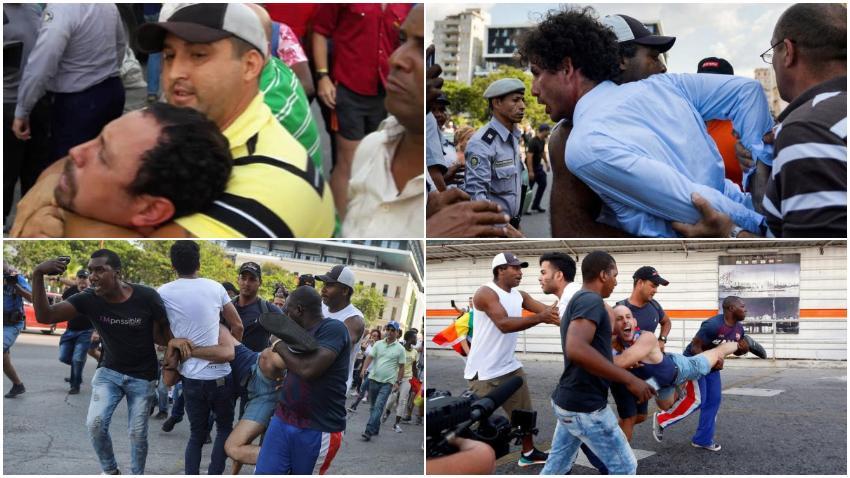 Los rostros de la represión en Cuba durante la marcha contra la homofobia