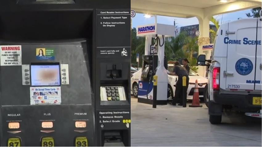 Encuentran lector de tarjeta de crédito falso en gasolinera de la Pequeña Habana
