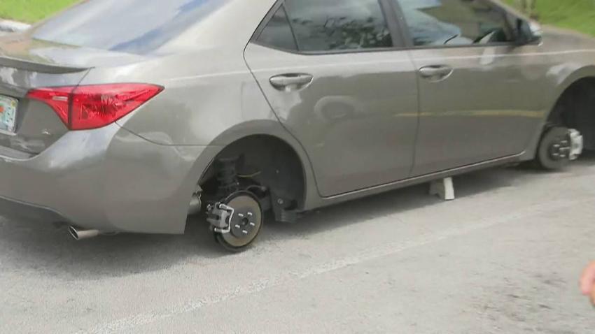 Roban en un vecindario de North Miami llantas y neumáticos pero solo de Toyotas Corolla