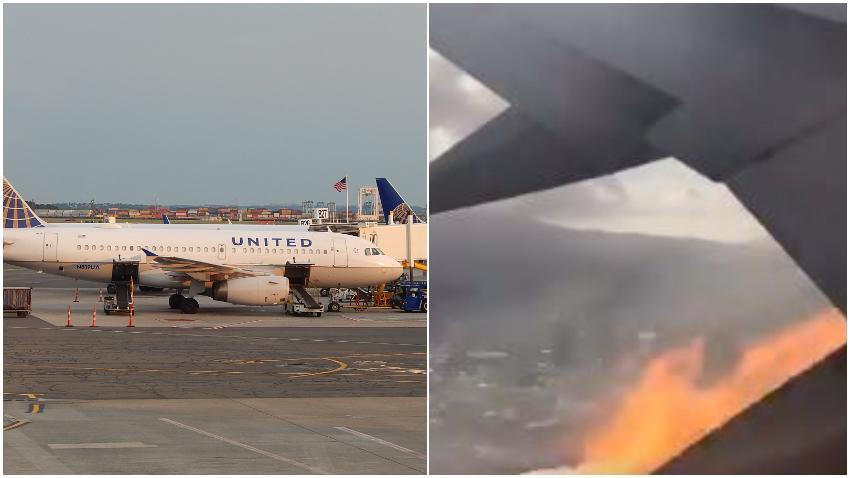 Avión de United Airlines realiza aterrizaje de emergencia tras fuego en uno de los motores