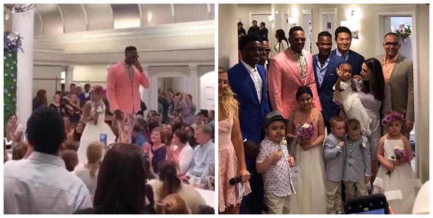 El pelotero cubano Aroldis Chapman apoyó a niños con cáncer en un desfile de moda en Nueva York