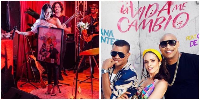 """Reconocen con un Disco de Oro al sencillo """"La vida me cambió"""" de Diana Fuentes junto a Gente de Zona"""