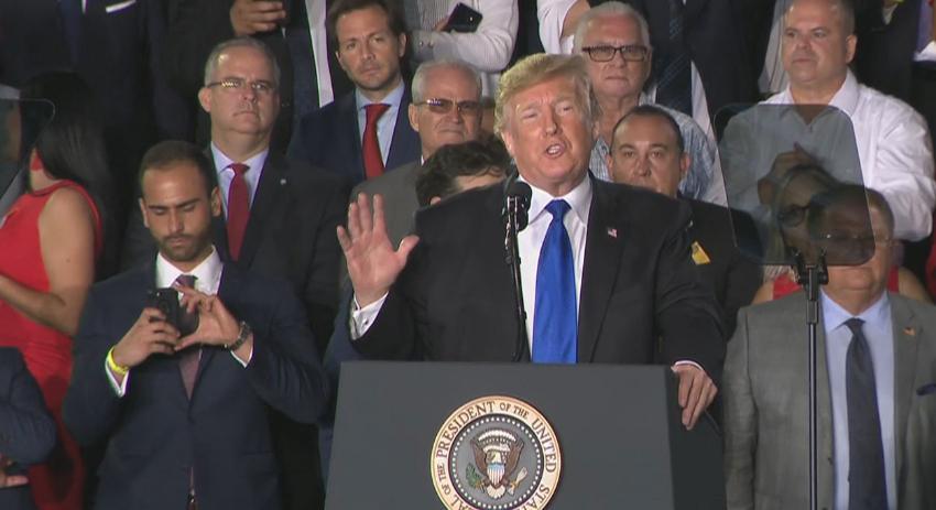Asesores de Trump muy seguros de que el presidente ganará Florida