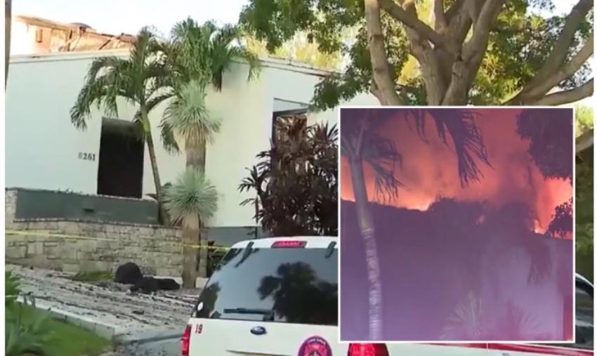 Se incendia lujosa propiedad en Coral Gables,valorada en $ 2.6 millones de dólares