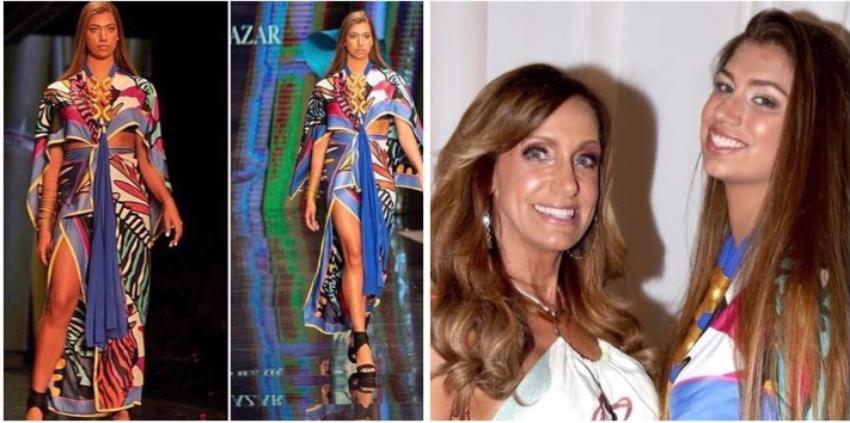 Lili Estefan orgullosa de que su hija Lina Luaces debutara como modelo en Miami Fashion Week