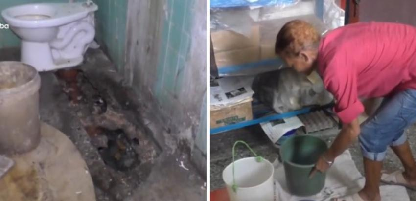 Albergados en La Habana viven en un lugar contaminado en condiciones infrahumanas