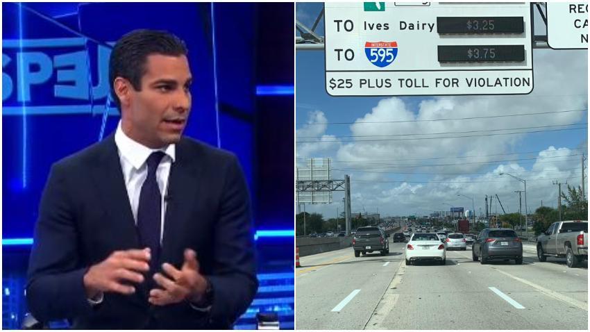 Alcalde de Miami Francis Suárez califica de abusivos los peajes y acusa al condado Miami-Dade de mal utilizar el dinero que se recauda