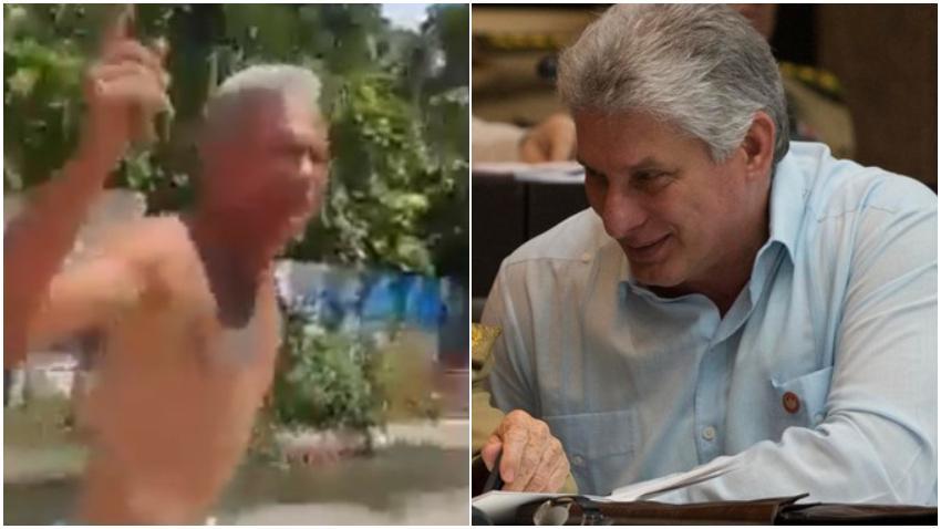 """""""¡Abajo Díaz-Canel!, ¡Leche para los niños!"""": Así los gritos desesperados de un opositor en La Habana"""