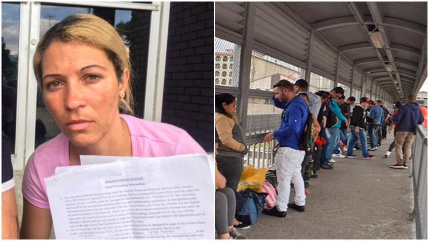 Cubana es enviada a México para esperar su caso de asilo en Estados Unidos