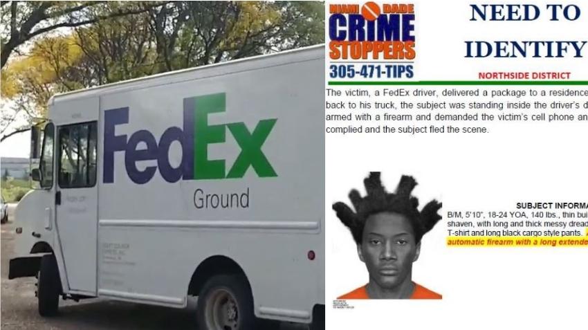 Roban a mano armada a un conductor de FedEx en Miami cuando hacía una entrega