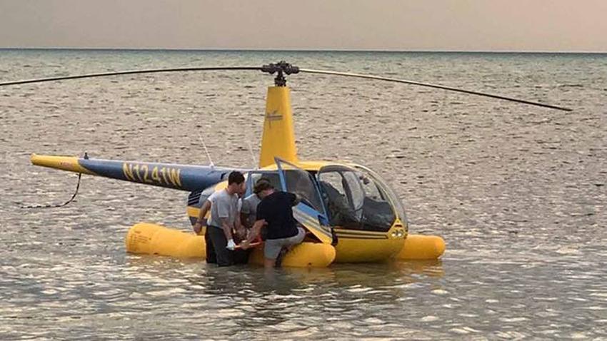 Helicóptero turístico realiza aterrizaje de emergencia en el océano cerca Key West