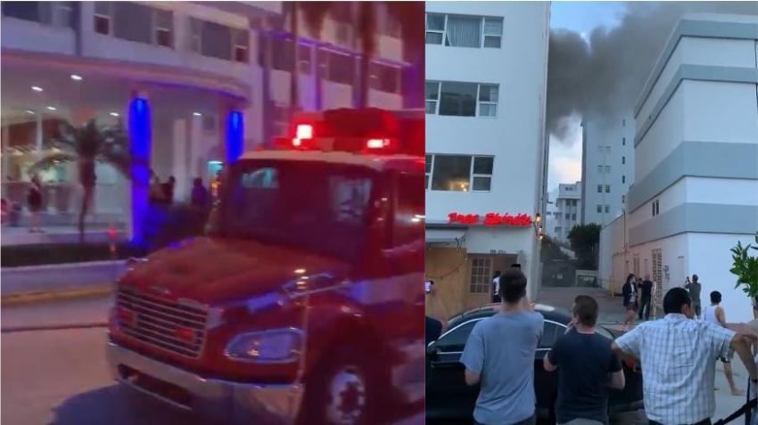 Un incendio en el bar de un hotel en Miami Beach lleva a la evacuación del edificio