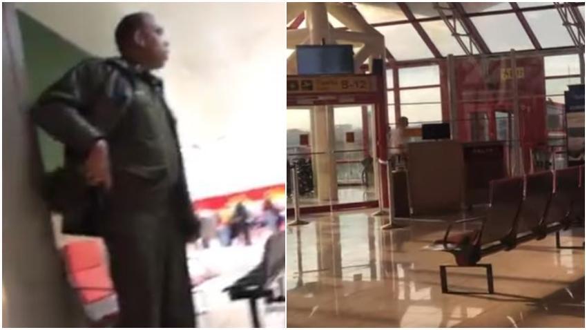 Cubano graba como las autoridades cubanas no lo dejan entrar a Cuba y lo regresan al avión