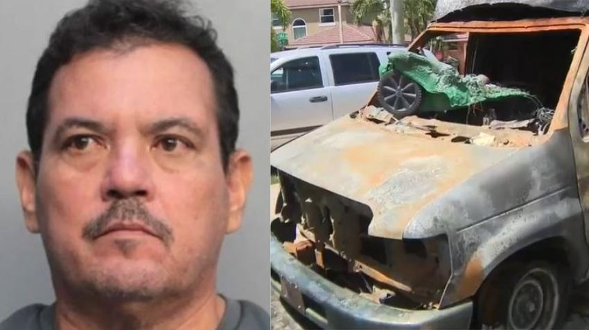 Hombre de Miami es acusado de prender fuego a la camioneta de su exjefe después de despedirlo