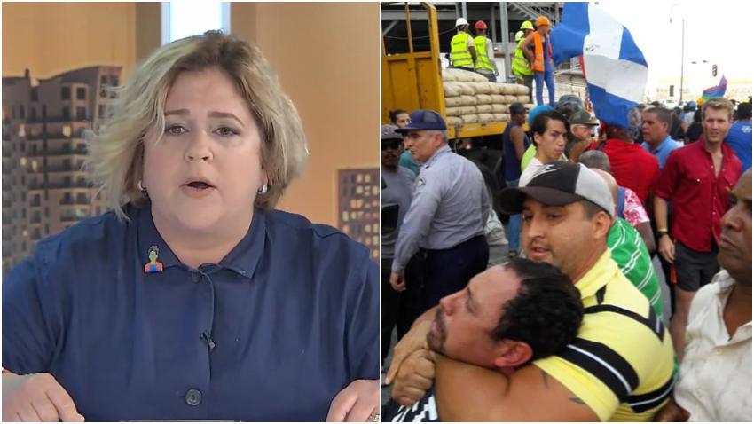 """Actriz cubana Judith González indignada en el Show de Carlucho: """"Cuba no es tabaco, ron, mulata rica.. Cuba es asesinos, muertos y un exilio que lleva años sufriendo"""""""