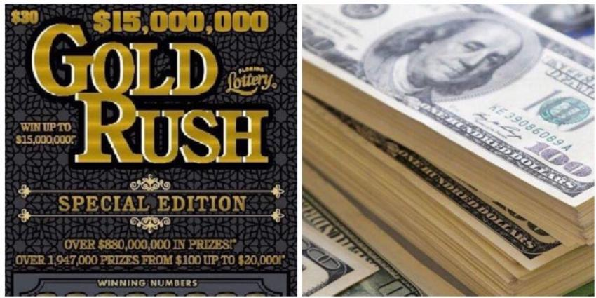 Floridano gana $15 millones con un raspadito Gold Rush Special