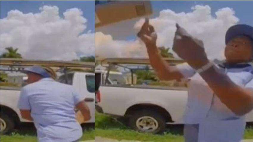 """Cubano de Miami denuncia la entrega de paquetes por parte de un empleado de Correos que los lanza por encima de la reja """"como si fueran pelotas"""""""