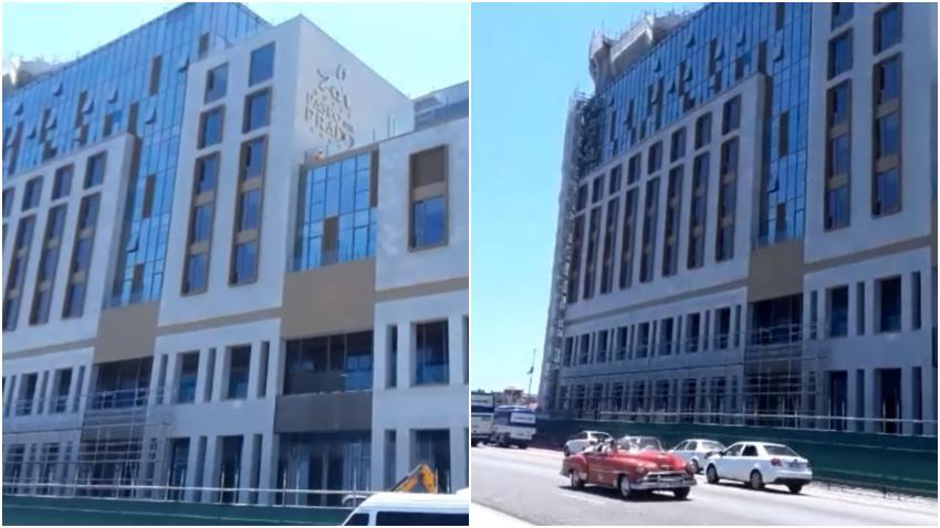 Así avanza la construcción de otro hotel de lujo en La Habana; el hotel Paseo del Prado