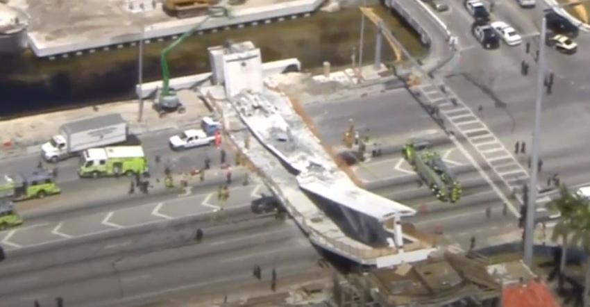 Grietas en la estructura del puente peatonal de FIU fueron ignoradas por los ingenieros antes del derrumbe
