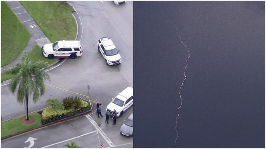 Hombre resulta herido al ser impactado por un rayo en Pembroke Pines
