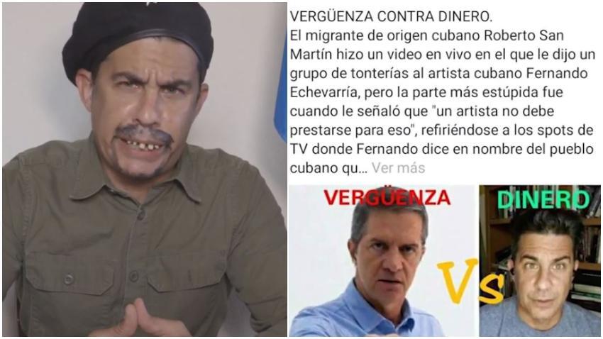 """Actor cubano Roberto San Martín responde a los ataques tras sus comentarios sobre la campaña """"No nos entendemos"""" que encabeza el actor Fernando Echevarría"""