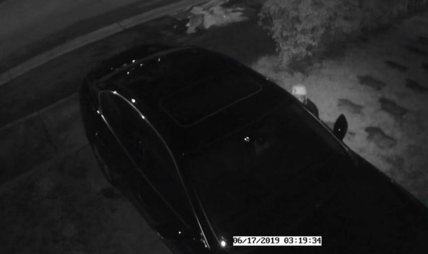 Cámaras de seguridad captan a un hombre robando un vehículo afuera de una casa en Miami