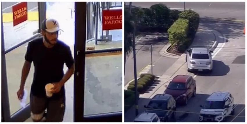 FBI busca a delincuente que robó un banco en Miami y amenazó con explosivos