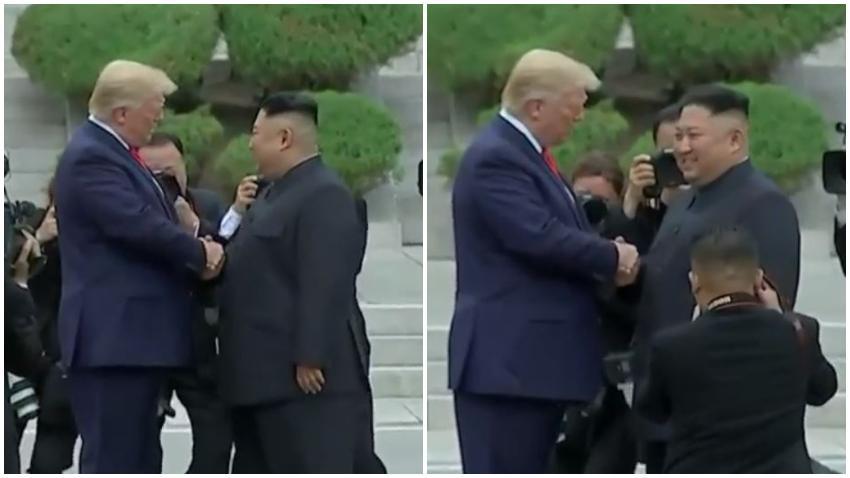 Presidente Trump se encuentra con el dictador de Corea del Norte Kim Jong-un y cruza a Corea del Norte