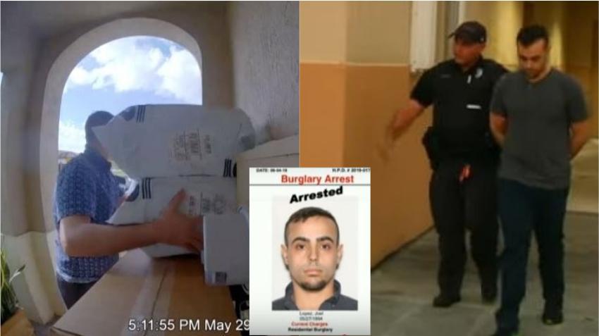 Policía captura a ladrón de paquetes en Hialeah