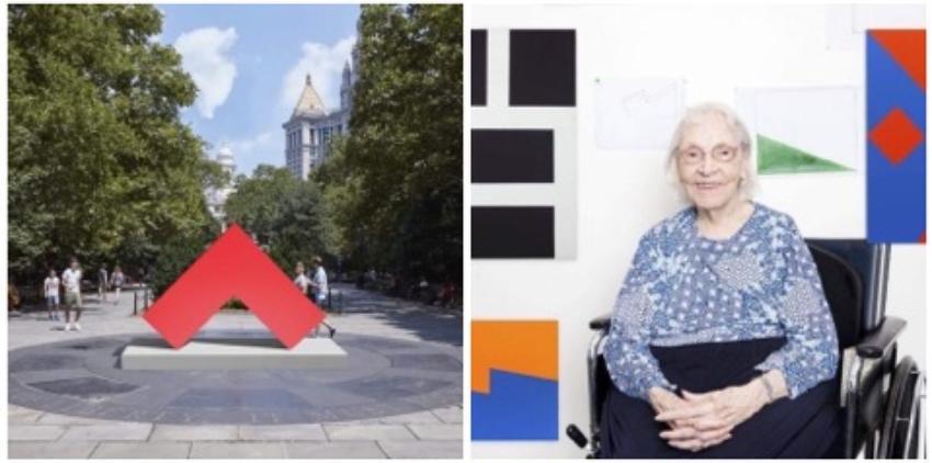 Esculturas de la artista cubana Carmen Herrera adornan el corazón de Manhattan