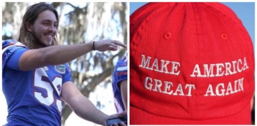Atacan a estudiante de la Universidad de Florida por usar una gorra en apoyo a Trump