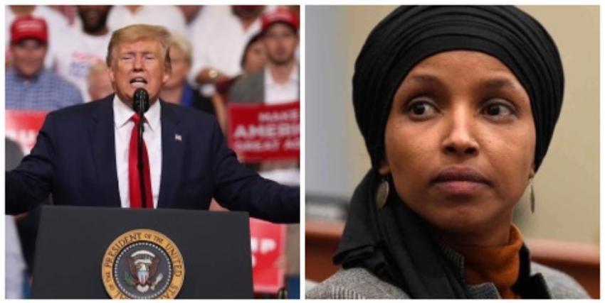 """Trump crítica a congresista demócrata musulmana, y sus partidarios corean: """"¡Envíenla de vuelta, envíenla de vuelta!"""""""