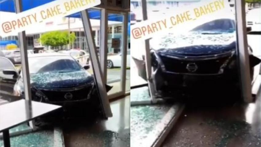 Un carro choca contra un bakery cubano en el suroeste de Miami; una persona resulta herida