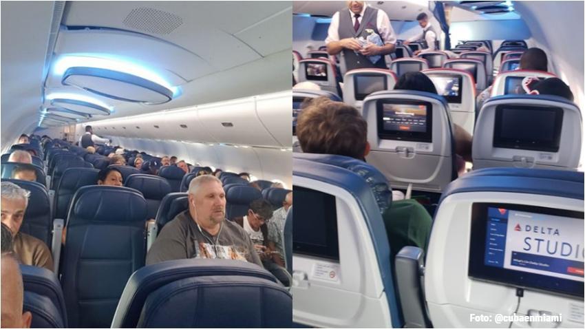 Asientos vacíos y retraso de más de 1 hora, así está un vuelo de Delta de Miami a La Habana