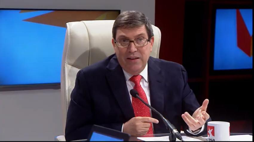 """Canciller cubano Bruno Rodríguez habla de crisis económica en Estados Unidos: """"La coyuntura económica en EEUU se complica"""""""