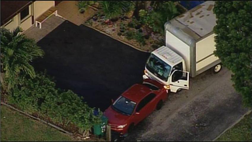 Un hombre roba un camión que habían dejado encendido afuera de una casa en el suroeste de Miami