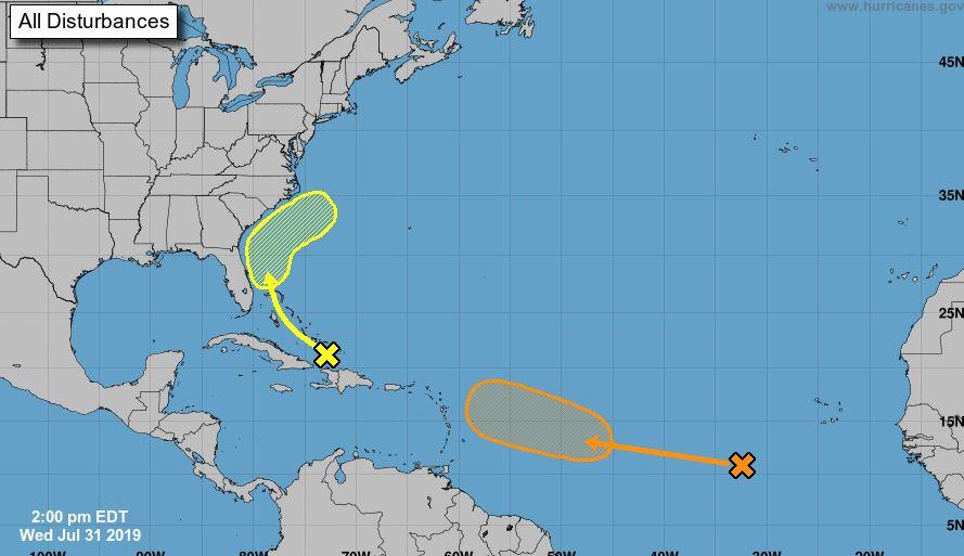 Perturbación Tropical se acerca al Sur de la Florida