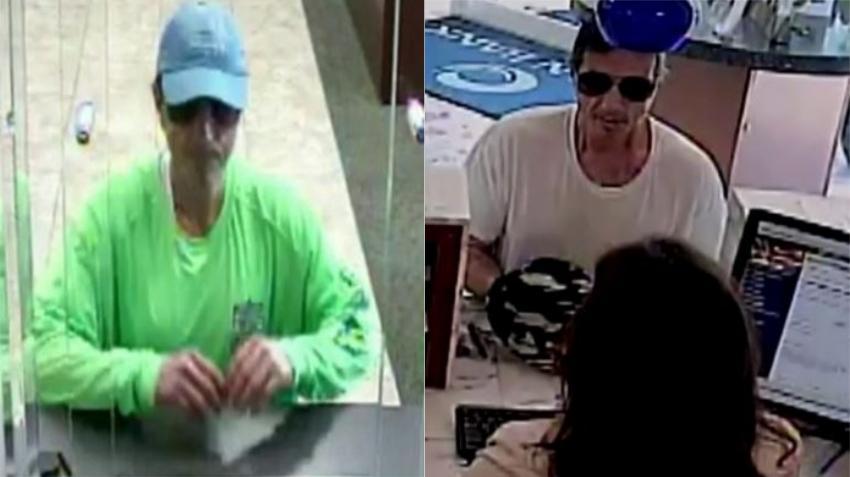 Policía y FBI busca a un hombre que entró a robar a dos bancos en Miami Beach