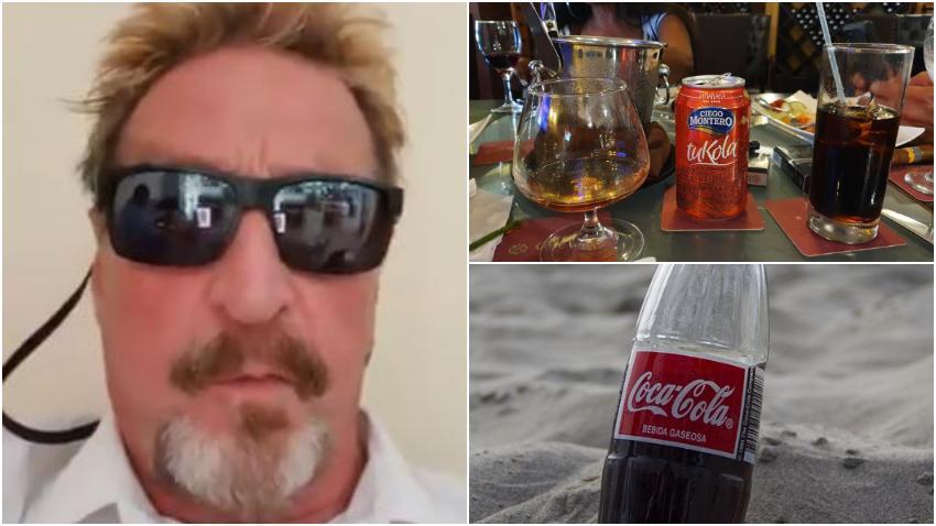 Multimillonario estadounidense John McAfee compara el refresco Tu Kola de Cuba con la Coca Cola