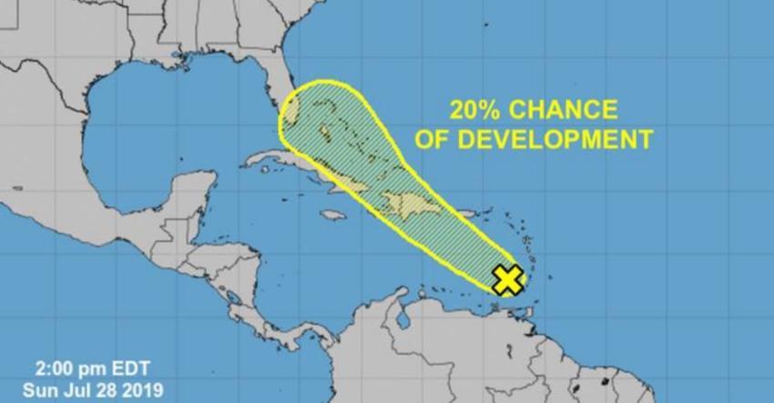 Se forma onda tropical en el Caribe; sistema puede tener potencial para convertirse en depresión tropical