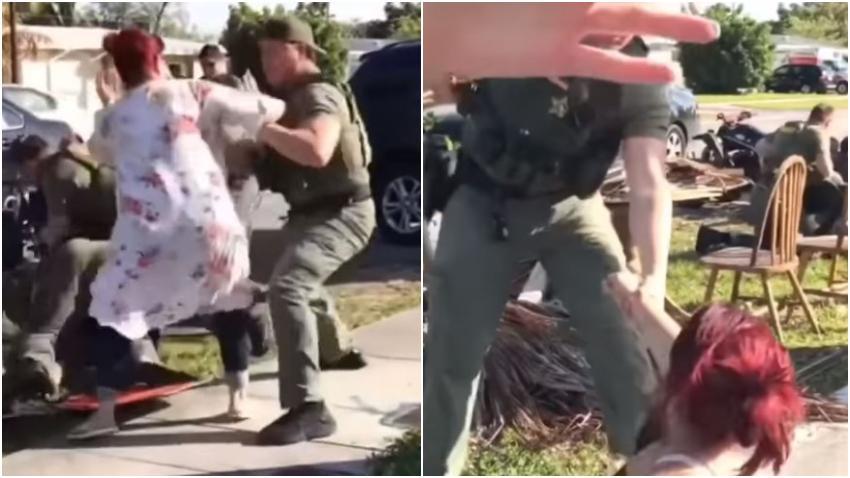 Video de enero del 2019 donde policía del Sur de la Florida termina golpeando varias veces a una mujer se vuelve viral en redes sociales