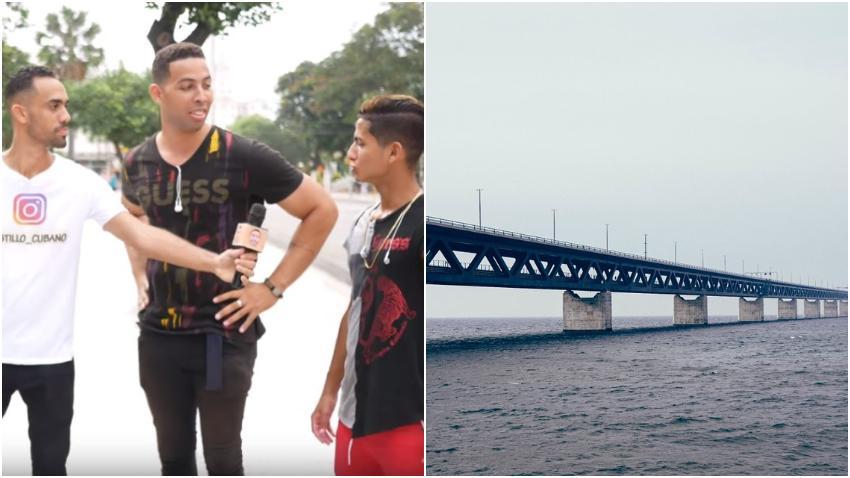 Youtuber cubano sale a la calle en Cuba preguntando a los cubanos ¿Qué creen de un puente de La Habana a Miami?