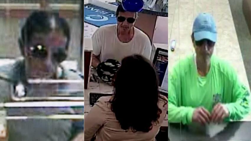 Hombre que robó en dos bancos en Miami Beach parece robar en un tercer banco, según las autoridades