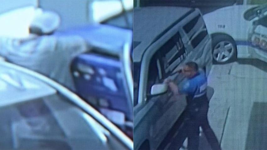 Captado en cámara un hombre instala un lector de tarjeta en una gasolinera de Miami; la policía lo atrapa cuando regresa a recogerlo