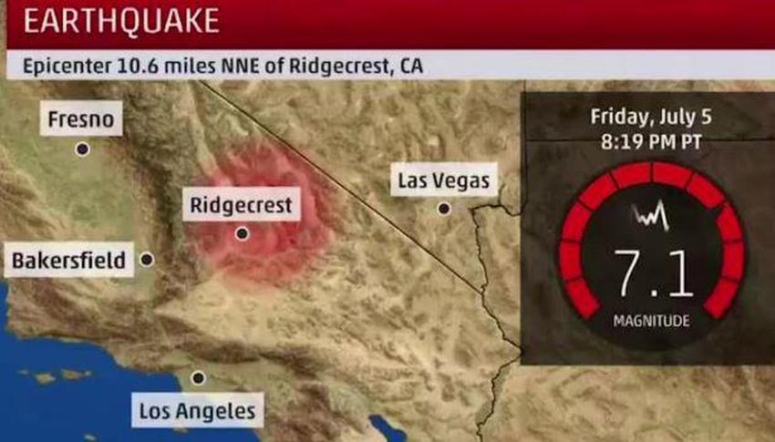 Segundo terremoto de 7.1 estremeció parte sur del estado de California