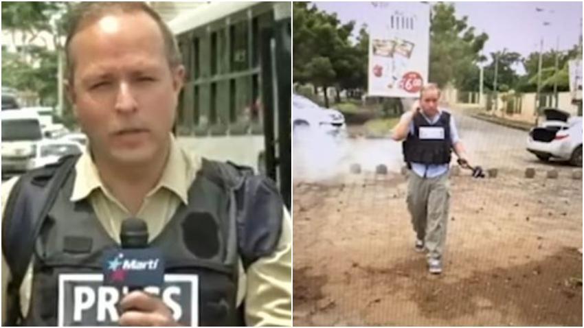 Suspenden a periodista y camarógrafo de Radio y TV Martí tras video en el que al parecer realizan un montaje para hacer una noticia falsa