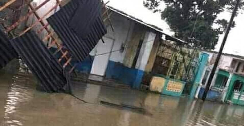 Viviendas afectadas e interrupciones eléctricas en Morón,Ciego de Ávila, a causa de tormenta local severa